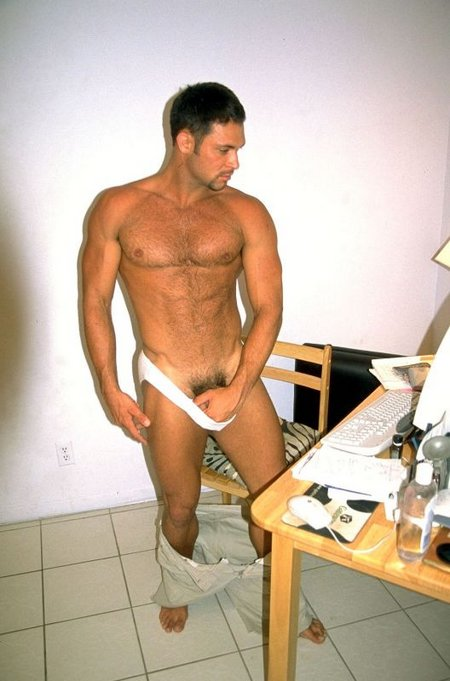 Sexy Hunk Showing His Uncircumcised Gay Cock04